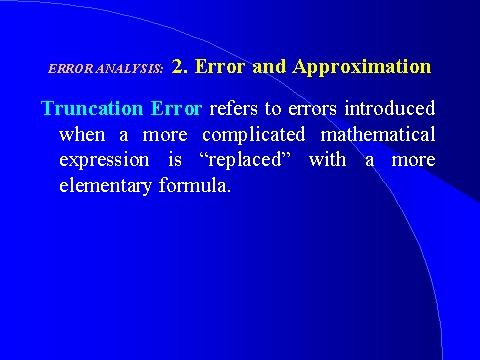 error analisis