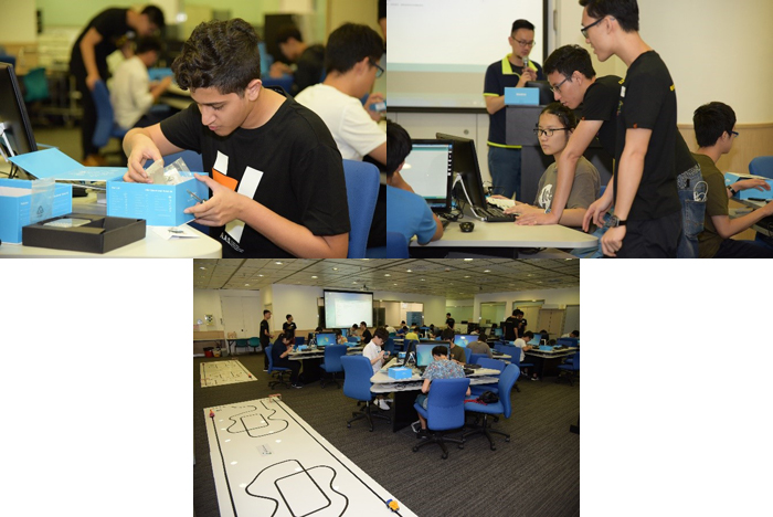 A Full House of Students joining JS1205 Programme Information Session and its complementary mBot Workshop
